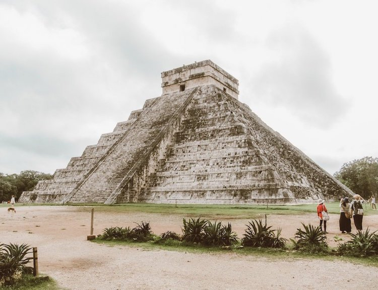 The main pyramid of Kukulcan at the site of Chichen Itza in mexico
