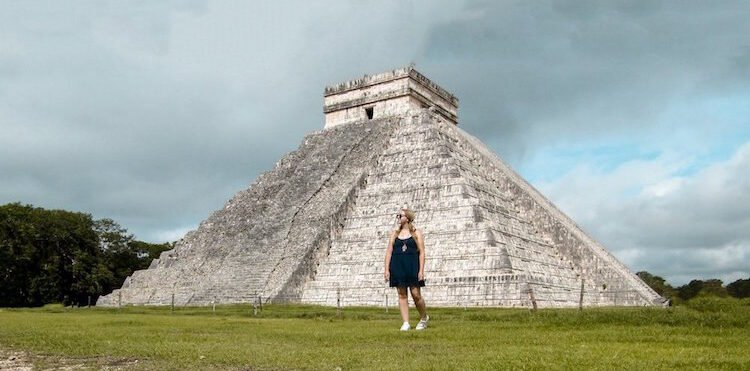 The author at Chichen Itza, a great day trip from Tulum