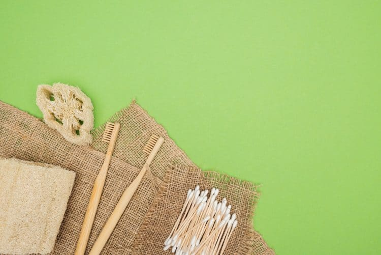 eco friendly toothbrush and cotton buds