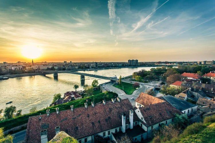 Varadinska Duga Bridge in Novi Sad