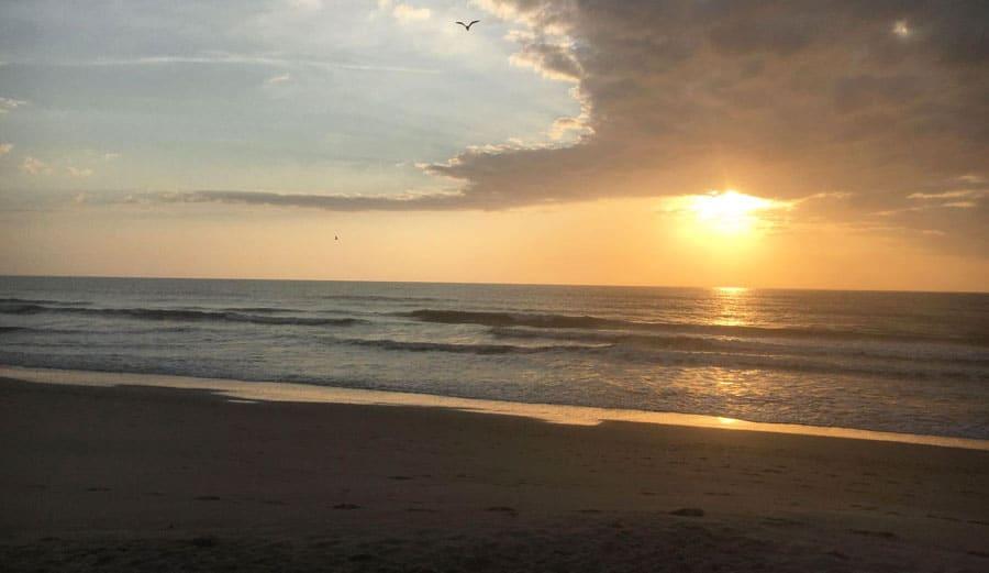 View of a sunrise in Cocoa Beach