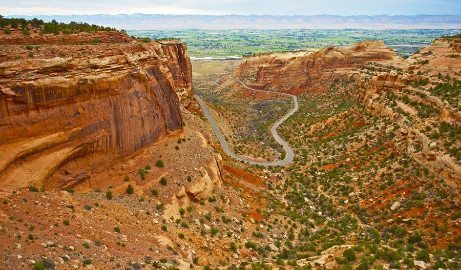 View of the scenery in Colorado National Monument