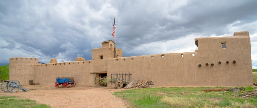 View of exterior of Bent's Old Fort National Historic Site