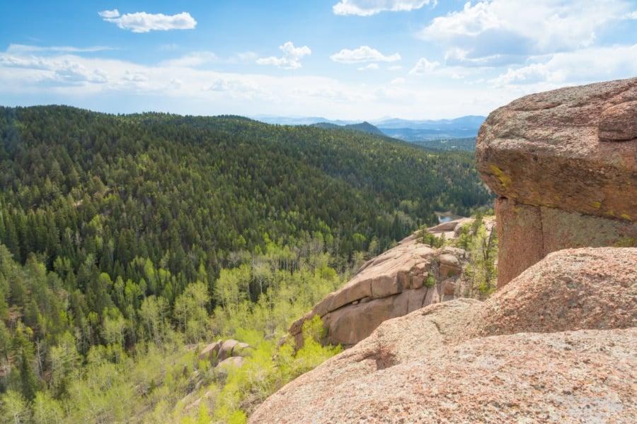 View of boulders near Woodland Park, Colorado