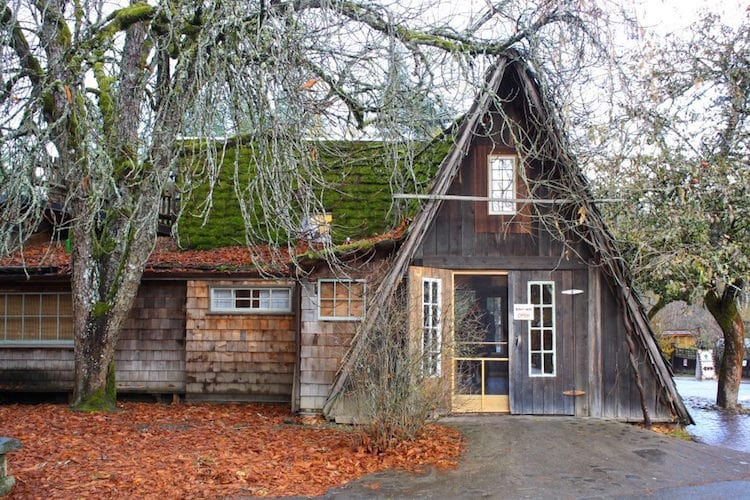 A mossy shop in Coombs, Vancouver Island