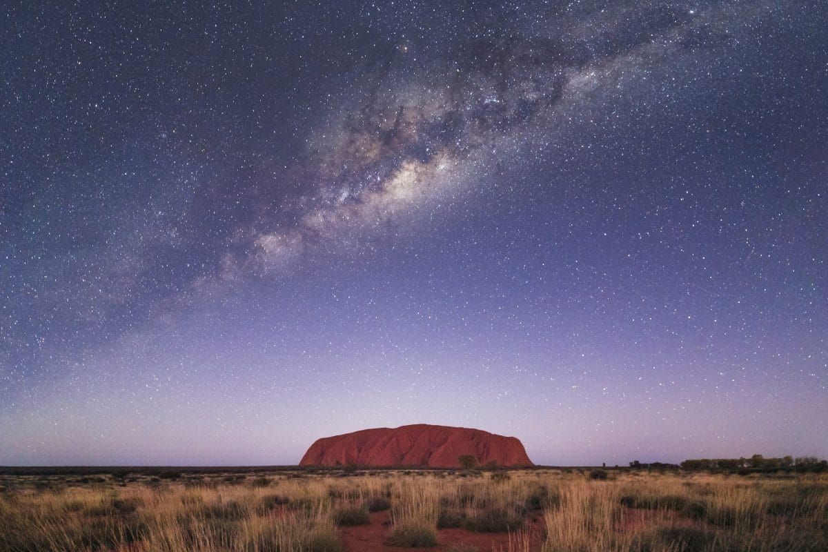 Northern Territory in Australia at Night
