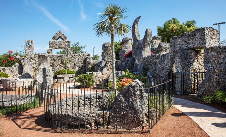 View of the Coral Castle in Homestead