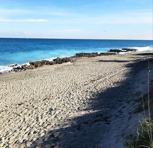 View of the beach at Coral Cove Park