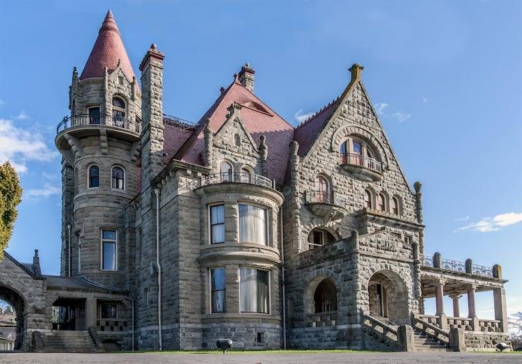 A photo of Craigdarroch Castle in Vancouver Island, Canada