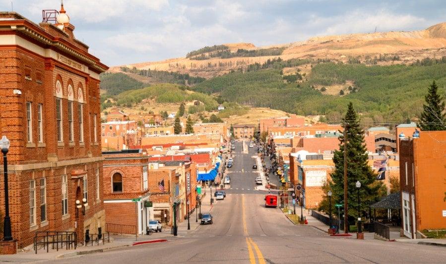 View of downtown Cripple Creek, Colorado