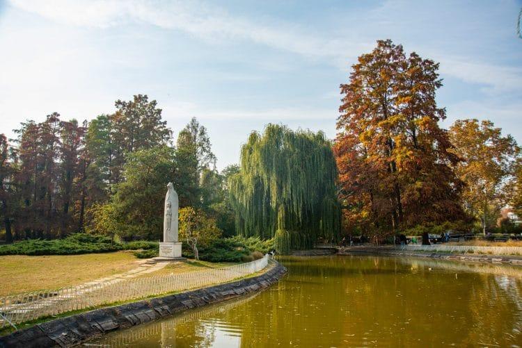 Pond in Dunavski Park Novi Sad Serbia