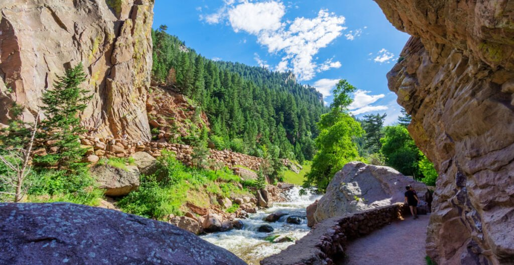 View of the Eldorado Canyon, one of the best day trips from Boulder Colorado