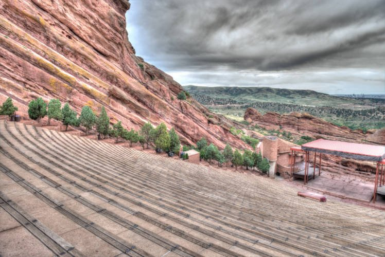 View of seats at Red Rocks Ampitheatre