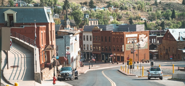 View of downtown Central City Colorado