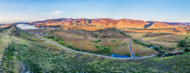 View of foothills near Fort Collins Colorado
