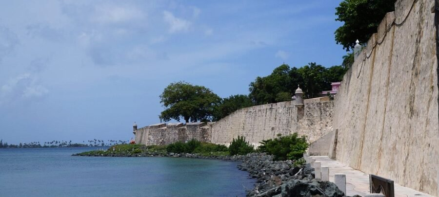 View of fortress walls in San Juan Puerto Rico