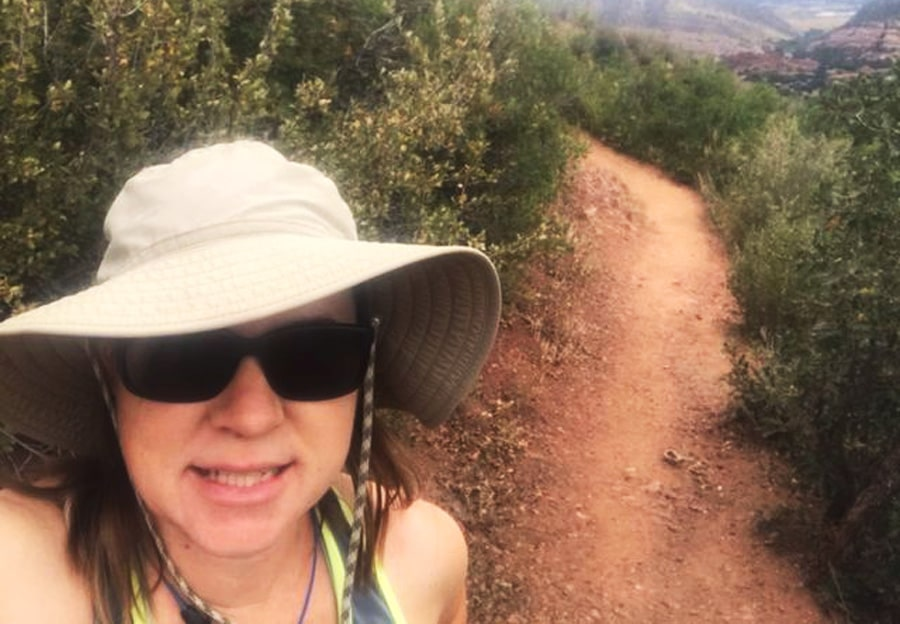 View of the author taking a selfie in Deer Creek Canyon Park