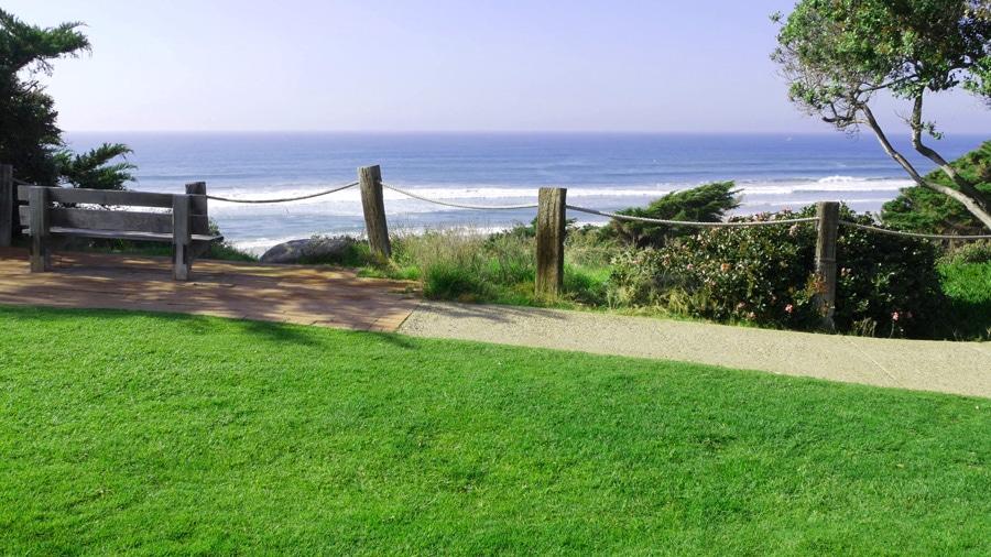 View of the seaside garden in Del Mar
