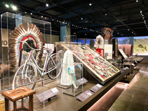 Historical objects on display at the Colorado History Center