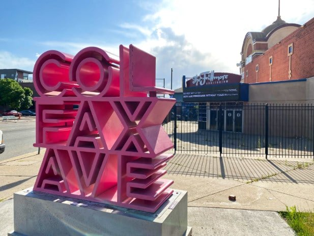 Colfax Avenue Sign in Front of the Fillmore Theatre, a top Denver attraction