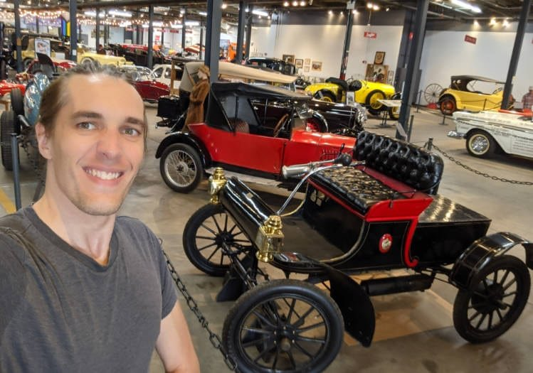 The author in Denver's Forney Museum of Transportation
