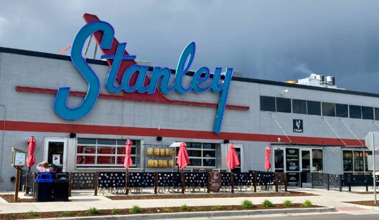 View of exterior of Stanley Marketplace