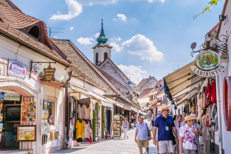 Visitors in Szentendre, Hungary