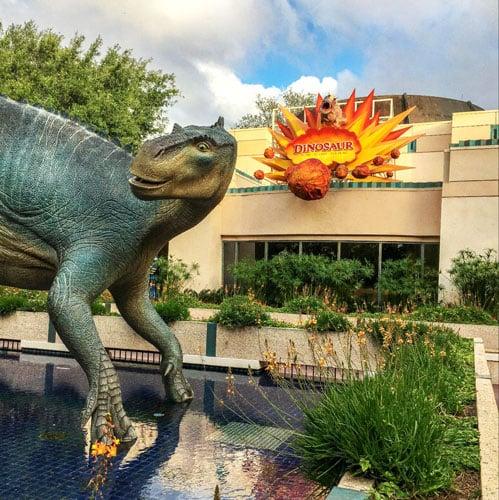 A dinosaur in Disney's Animal Kingdom