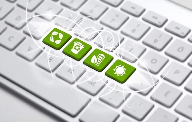 keyboard with Green recycling concept
