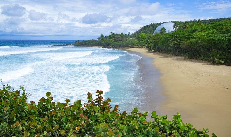 Scenic view of the Domes Beach in Rincon