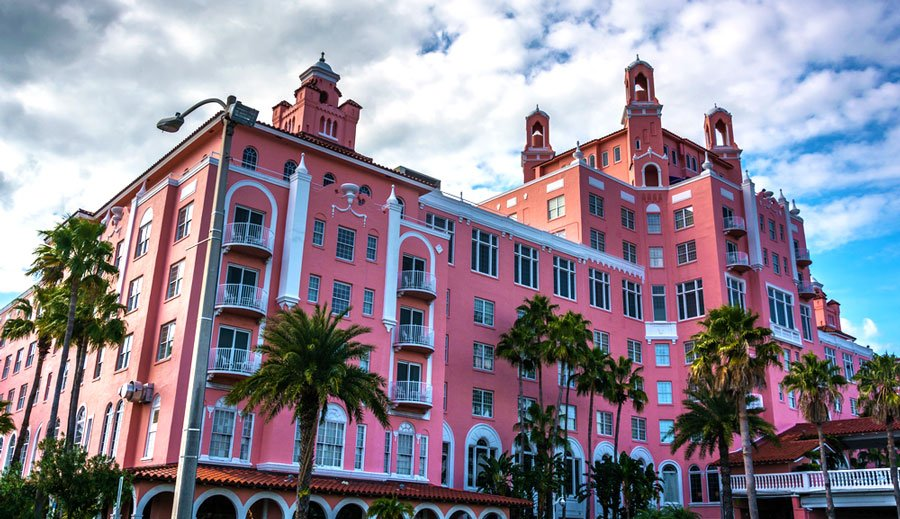 View of the Pink Hotel in St. Petersburg