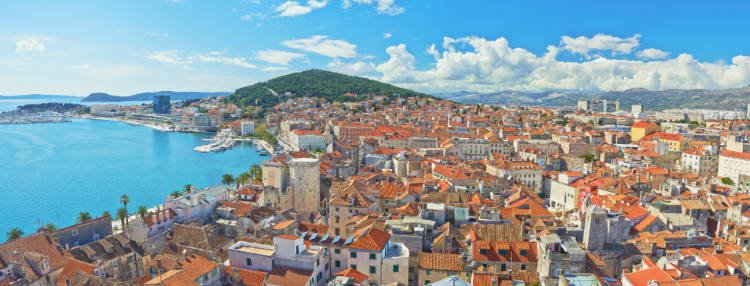 View of the city of Split, a great alternative to Dubrovnik
