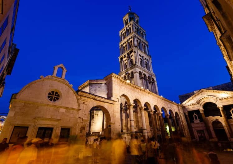View of the Bell Tower in Split Croatia