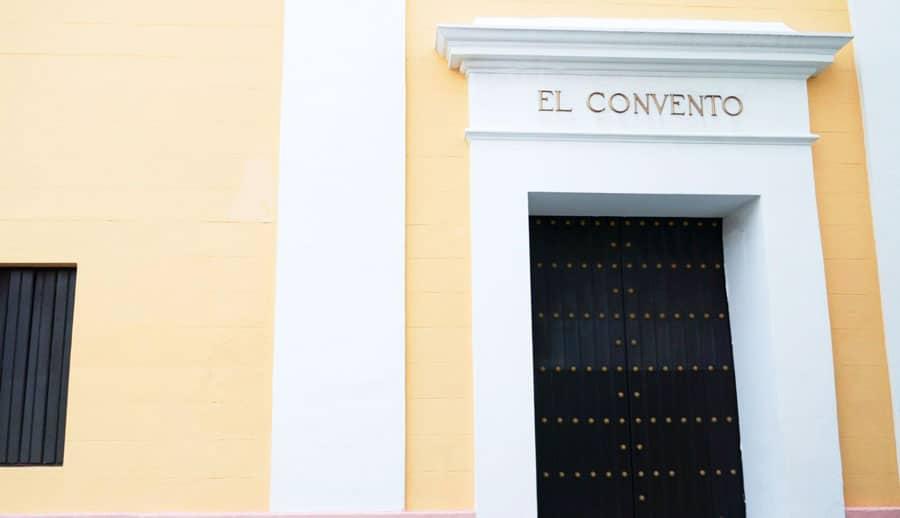 View of an entrance to Hotel El Convento
