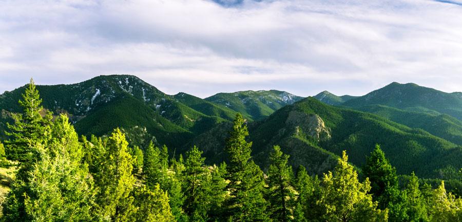 View of the Eldorado Canyon trail near Boulder Colorado