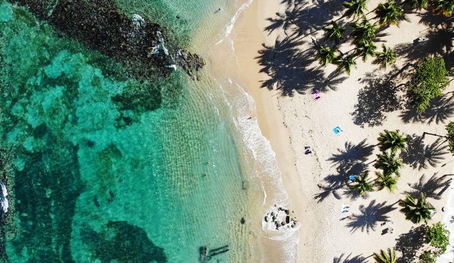 Aerial view of Escambron Beach