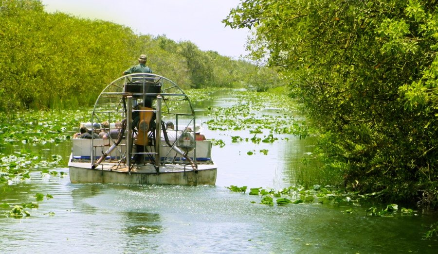 An air boat in Big Cypress National Park