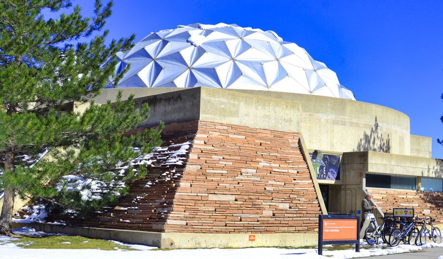 View of the Fiske Planetarium from the outside