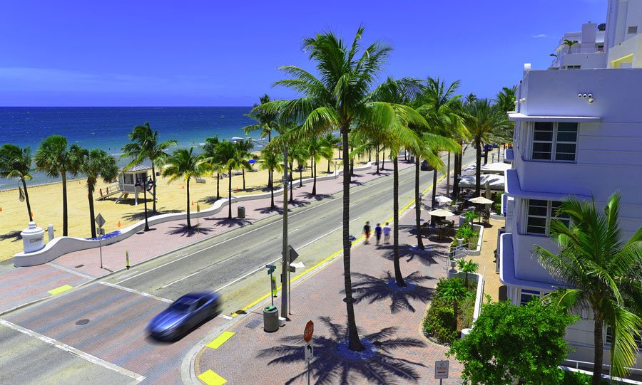 Scenic view of the Fort Lauderdale's beachfront