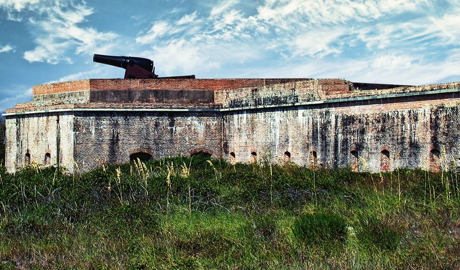 The Fort Pickens in Gulf Islands National Seashore