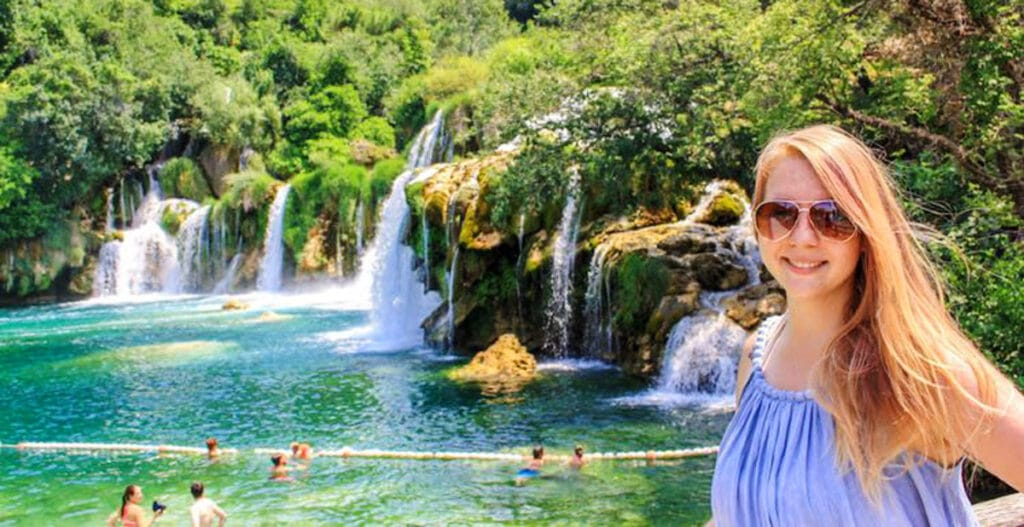 View of the author in Krka National Park