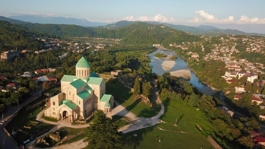 View of Kutaisi from a Drone
