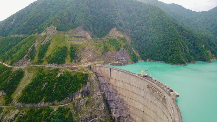 Enguri Dam in Svaneti Georgia