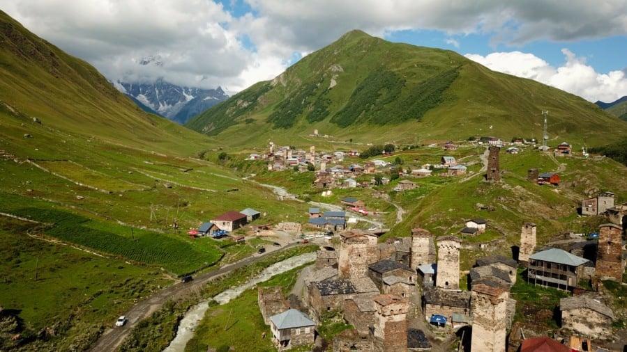 Watchtowers in Ushguli Georgia