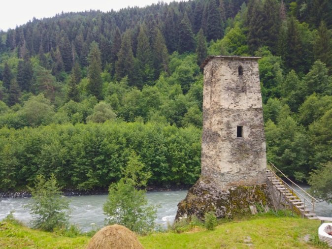 The Tower of Love in Svaneti Georgia