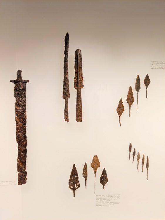 Ancient weapons in Svaneti Georgia