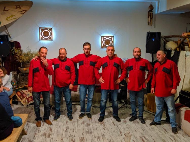 Georgian Singers at Cafe Laila in Mestia Svaneti