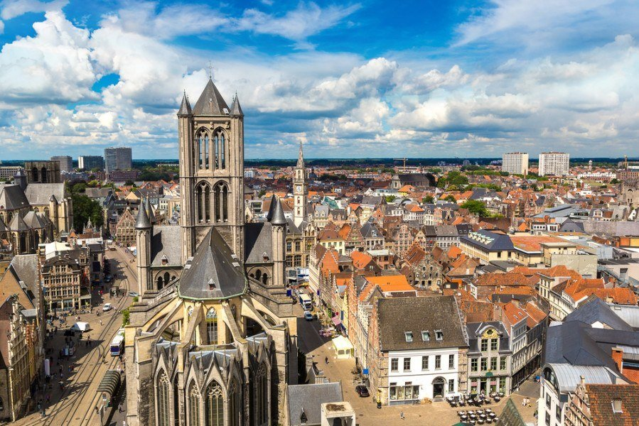 St. Nicholas Church in Ghent Belgium