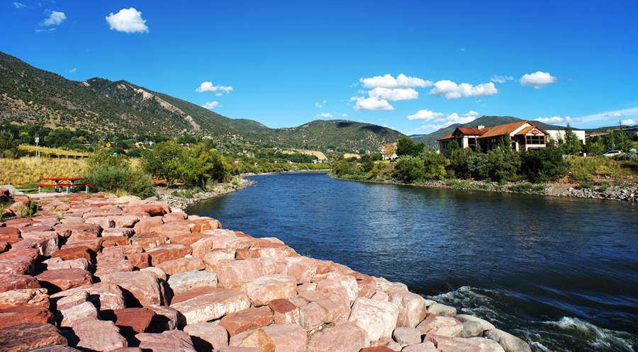 View of the Colorado river in Glenwood Springs