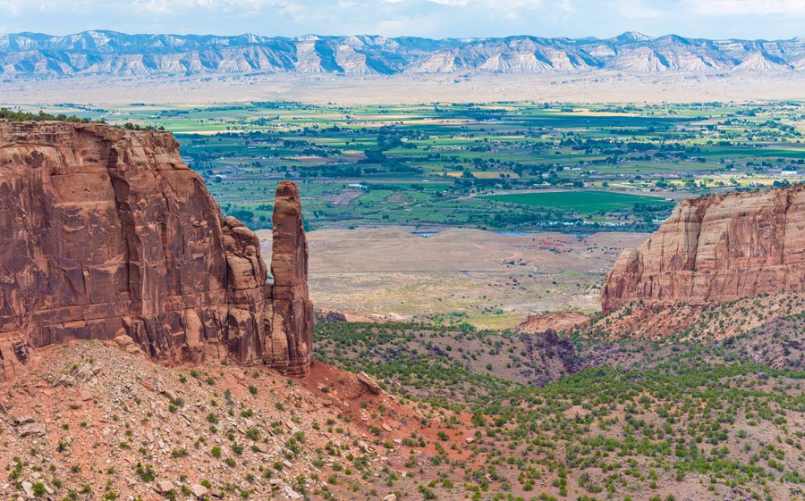 Overlooking view of Colorado National Monument near Grand Junction